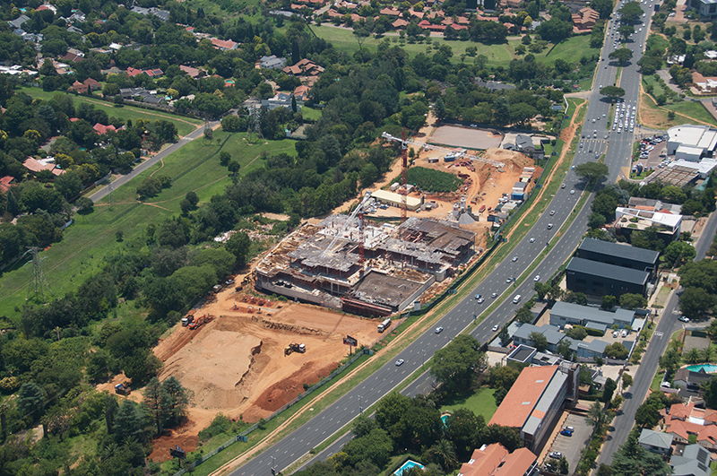 Sandton Gate Construction April 2019